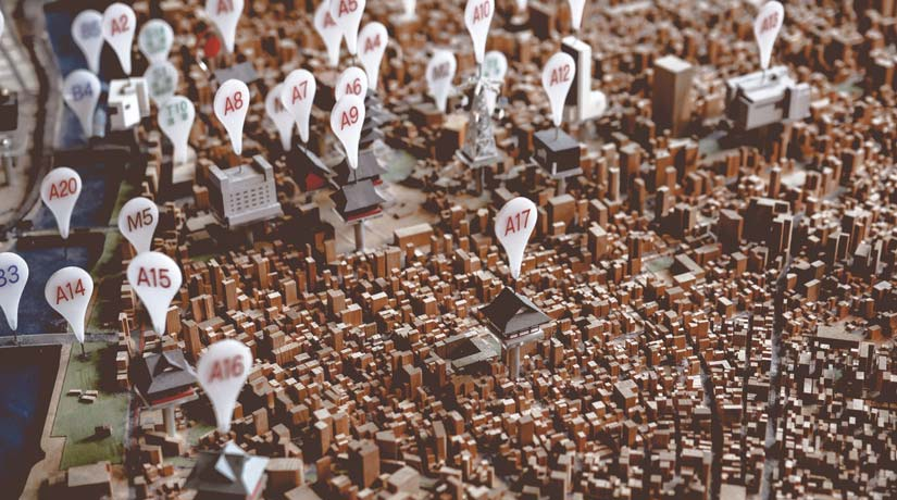 Pins on a Model of Property Locations