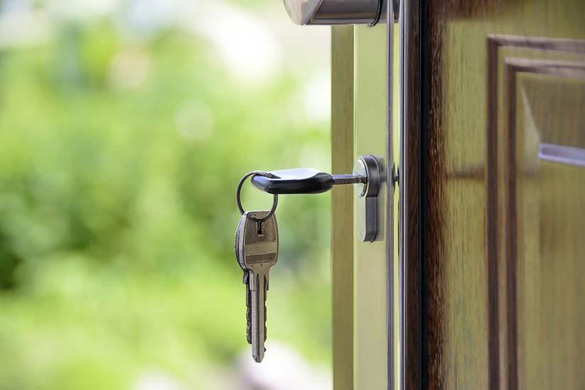 Keys in Front Door Lock