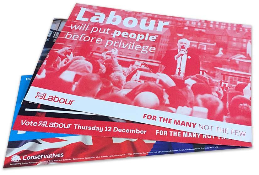 Political Party Campaign Leaflets