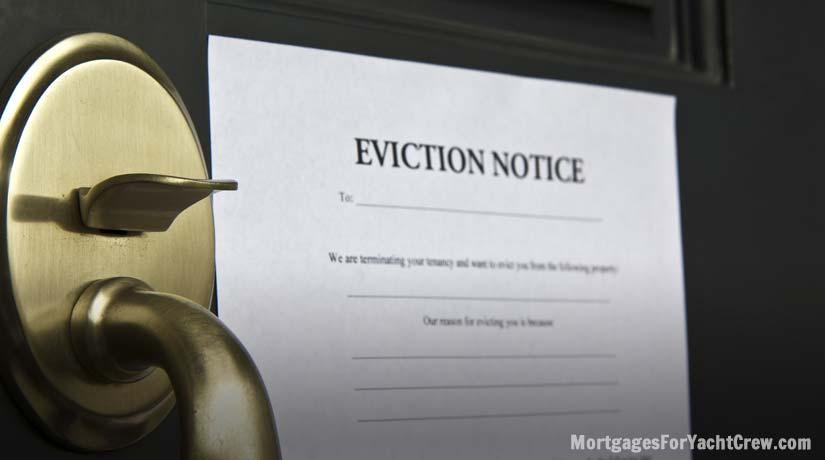 Eviction Notice Stuck to Door