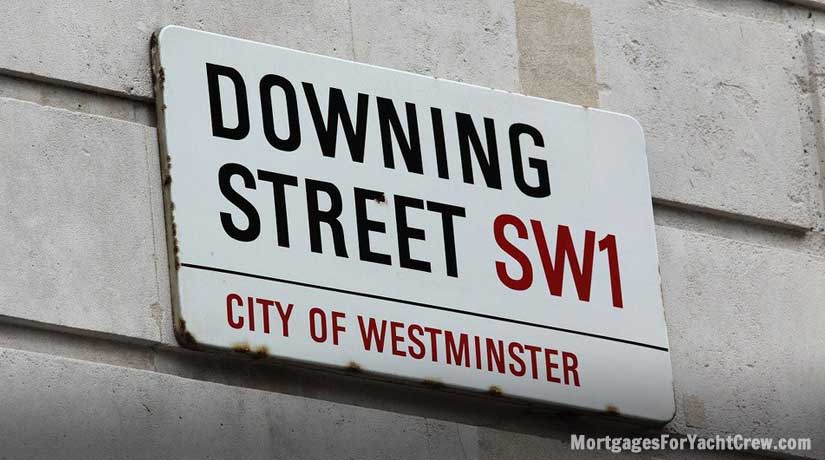 Downing Street Road Sign